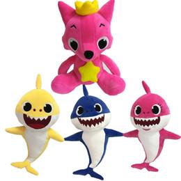 Cartoon PinkFong Plush Toys Fox Toy Sharks Poupées Enfants Bébé Jouets Animaux ? partir de fabricateur