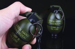 2 PCS / LOT Marque New Butane Flamme Pistolet Grand Grenade En Métal Frag Briquet Gonflable Coupe-Vent Cigarette Briquet Militaire Modèle Cadeaux ? partir de fabricateur