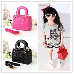 Wholesale Trendy Yellow Handbags - Trendy Children's Handbags Designer Brand PU Leather Girl's Purse Mini Girl Shoulder Bag Kids Fashion Accessories Party Gifts A8204
