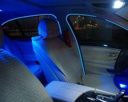Mudar de cinto on-line-Haoyuehao El banda borda do carro LEVOU luz fria dentro da lâmpada atmosfera tipo clipe de luz atmosfera para mudar o cinto de luz decorativo 2 metros
