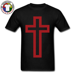 2020 camisetas de la cruz roja Autumn Winner New Style camiseta Christian Cross Red estampado en manga corta camiseta All Cotton Tee Shirt Men Adult Camisetas camisetas de la cruz roja baratos