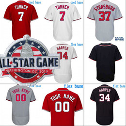 3c25b67e8 2018 All-Star Game Jersey Mens Washington 6 Anthony Rendon 11 Ryan  Zimmerman 27 Shawn Kelley 31 Max Scherzer 34 Bryce Harper Baseball Jersey  bryce harper ...
