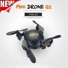 Wholesale Race Hd - QFX MINI Drone Q2 RC Helicopter Pocket Toy Racing Quadcopter Q2 2.4G Attitude Hold Wifi FPV Foldable Selfie Drone 0.3MP Camera