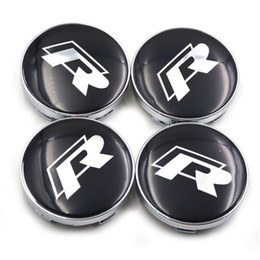 Vw hub caps on-line-4 pcs 60mm vw GTI Rline sR cubos do centro da roda para volkswagen emblema logotipo estilo do carro
