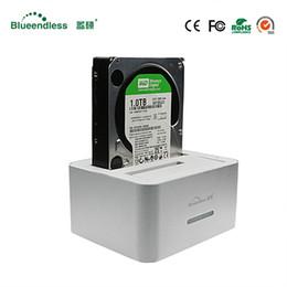 """Wholesale 1tb Hard Disk - Hot Sata to usb 3.0 hdd dock station hdd box 3.5 2 bay 1TB per sata 2.5 3.5"""" enclosure ssd docking station for hard disk 6tb"""