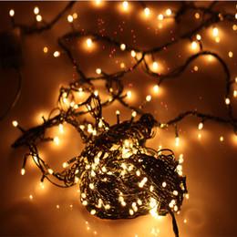 lampade di riso Sconti Lampada decorativa natalizia di 4 metri e 100 teste Lampada a bulbo di riso bianco caldo Hotel Festival Lampada decorativa Decorazioni natalizie