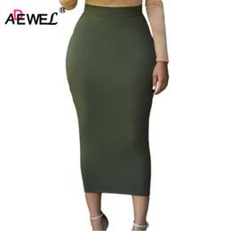 Wholesale Tight Long Pencil Skirt - ADEWEL 2018 Sexy Women Bodycon Long Skirt Black High Waist Tight Maxi Skirts Club Party Wear Elegant Pencil Skirt