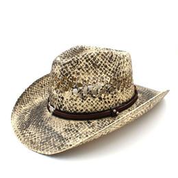 cowboy hat handmade Promo Codes - Fashion Women Men Straw Western Cowboy Hat  Handmade Weave Lady ffb54a801e15