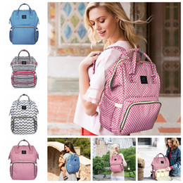 Wholesale Striped Maternity - LAND Waterproof Striped Mummy Backpack Baby Maternity Nappy Diaper Bag Large Capacity Baby Bag Travel Backpacks LJJO4051
