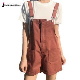 2018 Verano Nuevos Pantalones de Las Mujeres de Verano Ocio Coreano Colegio  Viento Estudiante Loose Thin Joker Jeans Baberos Pantalones Cortos Siameses  ... 58d2cd5e6148