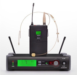 Wholesale Wireless Headset Microphone System Uhf - Clear Sound! SLX14 WH30 headset mic Wireless Microphone System SLX UHF Headset Earphone SLX24 Meeting Teaching Speech LLFA