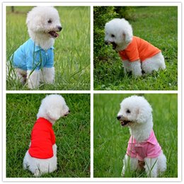 bc936a29cb9c 60pcs DHL New Puppy Pet Dogs Clothes POLO Cotton Jacket T Shirt I Dog  Clothing Size XS S M L XL 6 Colors Christmas Gifts Free