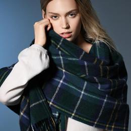 6f78ff23090f pure laine de cachemire Promotion Nouvelle écharpe d hiver pour les femmes  plaine gland de