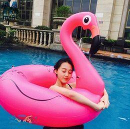 2019 brinquedos divertidos para homens adultos Adulto inflável flamingo colchão anel de natação mulheres homens nadar brinquedo da festa na piscina para se divertir flutuante animal cisne pássaro assento anéis brinquedos divertidos para homens adultos barato
