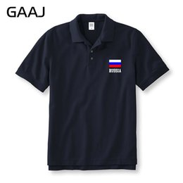 Wholesale Flag Business - Russia Flag Polo Shirts Men & Women Unisex Printed Letter Shirts Russian Federation Brands Man Polos Homme Business & Casual