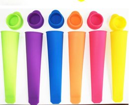 Wholesale Ice Cream Pop Maker - Silicone Ice Pop Mold Popsicles Mould with Lid Makers Push Up Ice Cream Jelly Lolly Pop For Popsicle 15cm Kitchen Tools
