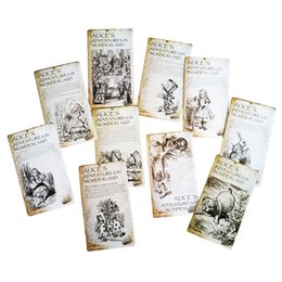 Wholesale Vintage Christmas Greeting Cards - 20 Pcs lot New Vintage Style Alice's Adventure In Wonderland Post Card Set Greeting Card Christmas Gift