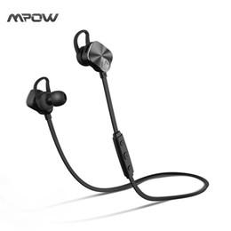 Новый! Mpow Coach Беспроводная связь Bluetooth 4.1 Наушники Стерео шумоподавление Спортивные гарнитуры для наушников с защитой от пота cheap bluetooth 4.1 headphones от Поставщики bluetooth 4.1 наушники