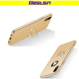 Wholesale pu soft materials - Bestsin Ring Phone Case Soft Material For Iphone X Case With Ring Stand Function for Iphone 6 plus case