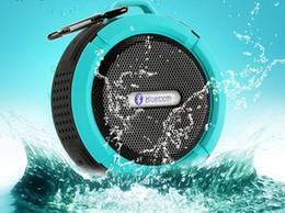 Ipx7 lautsprecher online-C6 IPX7 lautsprecher Sport Dusche Tragbare Wasserdichte Drahtlose Bluetooth Lautsprecher Saugnapf Freisprecheinrichtung Sprachbox für iphone Samsung pc
