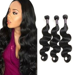 Wholesale free brazilian hair weave - 8A Cheap Unprocessed Brazillian Body Wave Straight Human Hair Extensions Wholesale Peruvian Bodywave Human Hair Weave Bundles Free Shipping