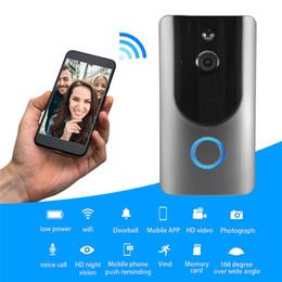 Sonnette sans fil intelligente WIFI avec caméra HD Vision nocturne Alarme de détection de mouvement Sonnette Sonnette antivol Visible Caméscope ? partir de fabricateur