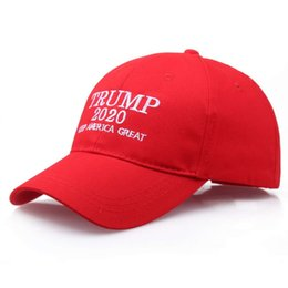 wholesale ball caps custom embroidery UK - Tailor's Embroidery baseball cap custom make america great again Election of hat wholesale