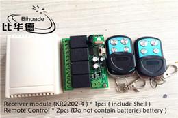 Rf modulo relè online-Telecomando universale wireless 315mhz di alta qualità 12v 4ch Relay Receiver Module e telecomando Rf Telecomandi