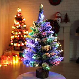 artificial flocking snow christmas tree led multicolor lights home window decorations beautiful drop shipping happy sale - Snowing Christmas Decoration