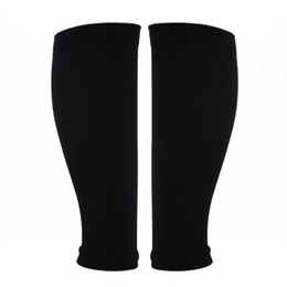 legging compression Promo Codes - Wholesale- 1 Pair Outdoor Support Leg Sleeve Sports Socks Exercise Compression Graduated Outdoor Exercise Calf Support High Quality