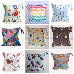 Wholesale polka dot diaper bags - Baby Splice Cloth Diaper Waterproof Bags Baby Wet Dry Bag with Zippers Snap Handle for Pumping Parts, Swimsuit