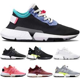 new styles fd810 26d45 Adidas Originals POD S3.1 System Boost Designer P.O.D POD S3.1 Sistema Uomo  Donna Scarpe da corsa Triple Nero Bianco OG Grigio Rosso Trainer Sport  Sneakers ...