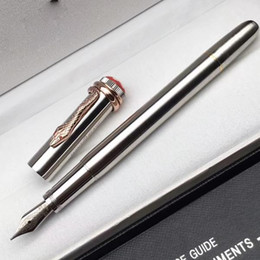Wholesale art promotion - Promotion Luxury snake clip Full metal fountain pen school office stationery MT Writing pens for business