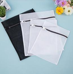 Wholesale Mesh Bra Wash Bag - Laundry bag 4 Pack (2 Medium 2 Large) Delicates Mesh Laundry Bag Bra Lingerie Drying Wash Bags( Black & White) wash machine bag KKA3877
