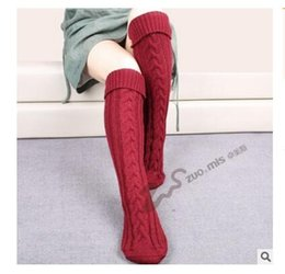 Wholesale Girls Thick Warm Socks - Leg Warmers for Boots Long Girls Spring Winter Warm Knitted Thick Gaiters Comfortable Floor Women Girls Socks Xmas Gifts DHL Free Shipping