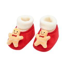 Canada Noël infantile bébé garçon fille wapiti dessin animé chaussures à fond souple supplier infant boys christmas shoes Offre