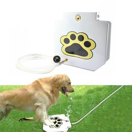 Wholesale outdoors fountains - Outdoor Trouble-Free Dog Pet Pedal Drinking Fountain Automatic Doggie Trampling Water Dispenser Activated Water Machine Convenience NNA97