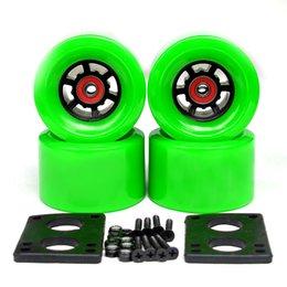 Ruedas de 35mm online-78A 97 * 52mm ruedas eléctricas del patín Cepillo calle rueda grande ruedas largas Junta ABEC-9 rodamientos bujes 35mm tornillos junta de 6 mm