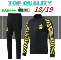 usar ropa Rebajas 2018 2019 Chaqueta de fútbol Borussia Dortmund 18 19 Survetement REUS PULISIC M.GOTZE Dott ropa deportiva ropa de fútbol kits de chaqueta