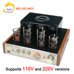 Wholesale Usb Tube - Nobsound MS-10D MKII Tube Amplifier Hifi Stereo Audio Power Amplifier 25W*2 Vaccum Tube AMP Support Bluetooth and USB 110V or 220V