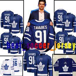 Wholesale toronto 19 - 91 John Tavares Toronto Maple Leafs Jersey 18 19 Men's 16 Mitch Marner 34 Auston Matthews Hockey Jerseys 100% stitched Embroidery Cheap sale