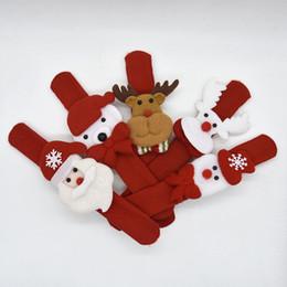 Pulseiras de santa on-line-2018 novos presentes de Natal Tapa Pulseiras Pulseira Crianças crianças Papai Noel árvore slap pat círculo Pulseiras decorações de Natal Círculo