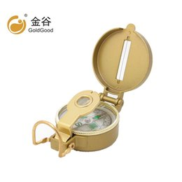Wholesale american aluminium - Golden Aluminium Alloy Major Multifunction Compass Portable American Flip Outdoors Discriminating Direction Accurate And Clear Scale 6 6cy W