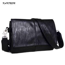 Argentina 2018New Vintage Men Briefcase Genuine Leather Men Messenger Bags Fashion Male Tote Bags Leather Business Men Bag Bolsos de hombro Suministro