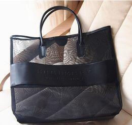 Articoli nave libera online-L'alta qualità insacca le grandi borse cosmetiche trasparenti della borsa delle donne della borsa della spiaggia della borsa a tracolla di modo della borsa di modo SPEDIZIONE GRATUITA