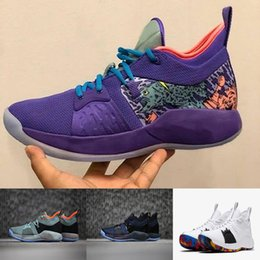 Wholesale Flooring Borders - 2018 Luxury Shoes Paul George 2 Basketball Sneakers March Madness Mamba Mentality PlayStation OKC PG 2 Sports Sneaker With Shoes Box