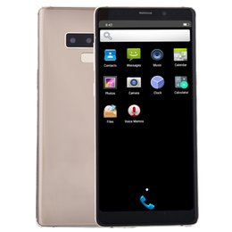 2g mp3 player Promo Codes - New Gold Goophone Note9 Unlocked 2G GSM 5.72 inch IPS 960*540 qHD Dual Core MTK6572 512MB 512MB Android 7.0 GPS WiFi 5.0MP Camera Smartphone