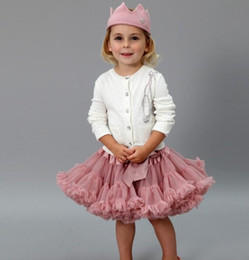 Wholesale Tutu Skirts For Children - Lovely Girls Tutu Skirt Fluffy Children Ballet Kids Pettiskirt Baby Girl Skirts Princess Tulle Party Dance Skirts For Girls