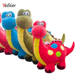 Wholesale Dinosaur Pillows - 3 colors New Dinosaur plush toys stuffed plush animals doll baby pillow soft cushion birthday gift 55-65 cm Drop