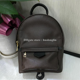 Wholesale Bag Children Backpacks - High Quality Best Price ! Original Design Genuine leather mini women bag children backpack luxury famous fashion Springs Palm 41560 41561